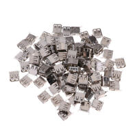 100-Pcs USB Female Type A Straight Angle/180-degree Jack Socket Connector