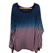 INC Plus 2X Striped Ombre Sweater Bell Sleeve International Concepts New