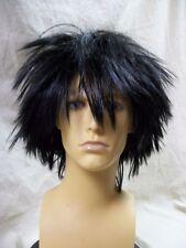 Messy Black Midnight Fiend Wig Edward Scissorhands Goth Guy EMO Night Freak Punk