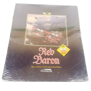 SEALED ~ Sierra / Dynamix Red Baron - 1994 MS-DOS CD  New