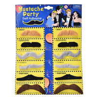 Fake Funny Moustaches Mustache Beard Goatee Party Set Self Adhesive