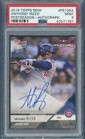 2018 Topps NOW ANTHONY RIZZO Post Season AUTO 28/99 (Cubs) PSA 9 MINT
