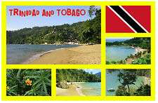 TRINIDAD & TOBAGO - SOUVENIR NOVELTY FRIDGE MAGNET  SIGHTS / FLAGS - NEW - GIFTS