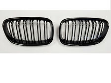 BMW F20 F21 1 Series Kidney Grill Grille Gloss Black M2 Style Twin Bar 2011-2014