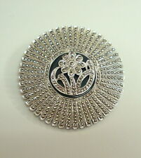 Vintage 925 Sterling Silver MARCASITE  Broche Excellent Condition