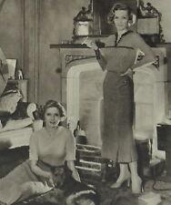 Dorothy Hyson & Dorothy Dickson At Home Lenare 1934 Photo Article 7026