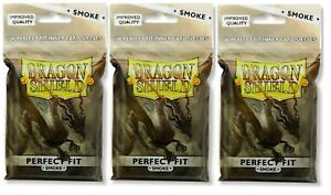 Dragon Shield Perfect Fit Inner Sleeves Smoke 3 packages (300 total) at-13023