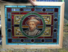 A Stunning Pair Of Painted Leaded Glass Victorian Windows