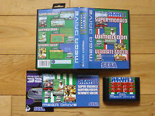 Sega Sports 1 (3 Juegos en 1) Sega Mega Drive PAL COMPLETA! difícil de encontrar!
