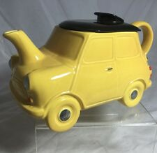 c.1950 British Carlton Ware Figural Car Teapot - Morris Minor Auto YELLOW MINI
