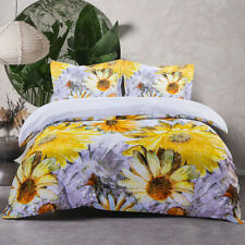Bedsum Microfiber Duvet Cover Set 3pc 3D Printed Breathable Cover for Comforter