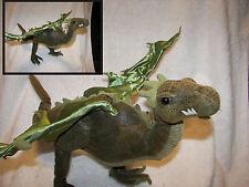 "Dragon  toy Sababa Toys Dragonology Plush Posable Green Dragon 20"" wingspan"