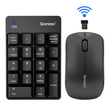 2.4GHz Wireless USB Numeric Keypad Numpad Number 18 keys Pad w Optical mouse