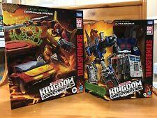 LOT 2 Transformers WFC Kingdom Ultra Magnus & Kingdom Rodimus Prime NEW IN-HAND
