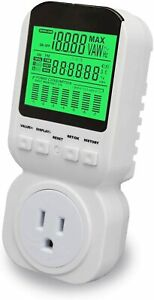 Power Energy Meter, Electricity Usage Monitor Plug With High Accuracy, Large LCD