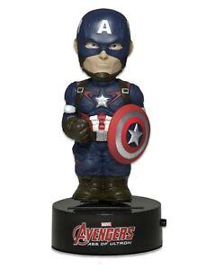 Avengers Figurine Captain America 16cm Body Heurtoir Bobble Neca Solaire Bd New