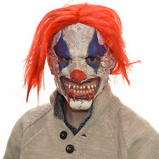 Latex Full Head Overhead Scary Horror Clown Wig Cosplay Halloween Fancy Mask