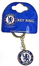CHELSEA BLUE KEYRING KEY RING CHAIN CREST METAL OFFICIAL FOOTBALL SOCCER CLUB
