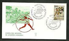 ITALIA BUSTE F.D.C. ALA  1981 CAMPIONATI ATLETICA COPPA DEL MONDO ANNULLO ROMA