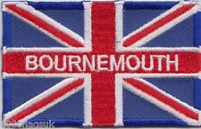 Bounemouth Dorset Union Jack Flag Embroidered Badge Patch
