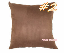 Solid Color Soft Faux Suede Leather Home Deco Sofa Bed Cushion Cover Pillow Case
