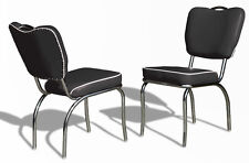 4 x US 1950 Retro Vintage Style Diner Restaurant Kitchen Furniture Chair 26 Blk