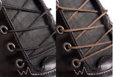WAXED THIN BLACK or BROWN COTTON SHOE LACES SHOELACES - 2mm wide