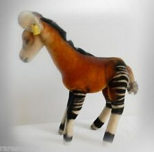 """Steiff  """"Okapi"""" in brown and black stripes - tagged in ear - FREE SHIPPING"""