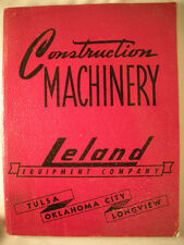 1948 LELAND EQUIPMENT Vtg Construction Catalog ASBESTOS Product Information
