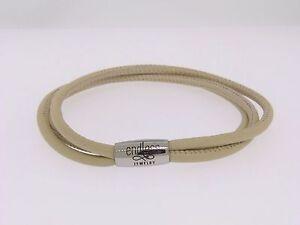 New Endless Ivory 3 String Leather Bracelet Steel Lock 20cm/ 8.0inch 12212-20