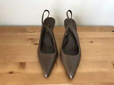 Banana Repubic Classic brown leather Slingback pumps shoes 7.5/ 37.5