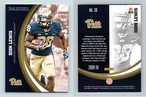 Dion Lewis #38 Pittsburgh Panthers Collegiate 2016 Panini Trading Card