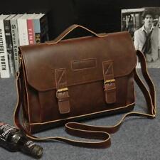 Vintage Messenger Bag Leder Laptop Tasche Arbeit Aktentasche Handtasche Herren