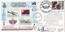 AC72aF 75th Anniv RAF  Signed 7 Battle of Britain  Pilots plus 3