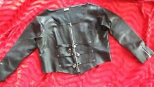 "LEATHER LOOK  FETISH LOCKABLE/BONDAGE  JACKET WITH BUCKLES/KEYS ""MISFITZ""  L/XL"