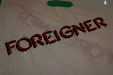 "Foreigner concert tour bag New 15"" by 20"" Inches Plastic 2 Sided Print Handle"