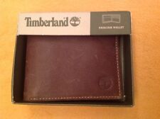 PORTAFOGLIO UOMO IN PELLE TIMBERLAND passcase wallet MARRONE MADE IN ITALY NUOVO