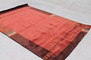 R4017 Hand Crafted Contemporary Tibetan Rug 5' X 8' Terracotta Red Made in Nepal