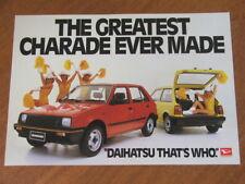 1983 Daihatsu Charade original Australian single page brochure
