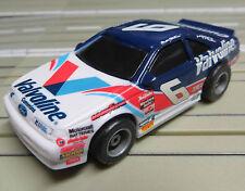para H0 coche slot racing Maqueta de tren NASCAR N º 6 con TYCO CHASIS