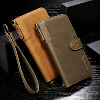 For Samsung Galaxy Cellphone Luxury Flip Wallet Leather Handy Wrist Case Cover
