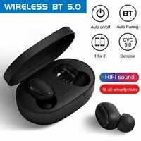 TWS Wireless Bluetooth 5.0 Earbuds Headphones Earphone Headset Noise Cancelling