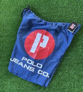 VTG 90s Polo Jeans Sport Ralph Lauren Swim Trunks Board Shorts P Spell Out Mens