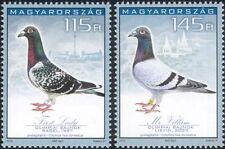 Hungría 2015 Racing Palomas/Aves/Naturaleza/Deportes/Portador/Mascotas 2v Set (n45161)