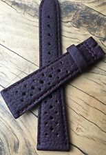 Bordeaux Red Heuer Silverstone 22mm vintage rally strap NOS 1960s/70s 6 sold