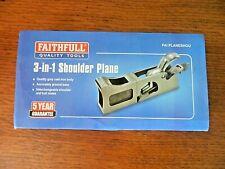 Faithfull FAIPLANEBULL Shoulder Bullnose Rebate Plane In Wooden Box Quality Tool