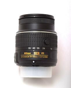 NIKON NIKKOR AF-S 18 - 55 mm VR 3.5 - 5.6 GII Lens w/Caps - Japan NEW.