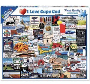White Mountain Puzzles I Love Cape Cod - 1000 Piece Jigsaw Puzzle 1222