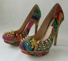 River Island Ladies High Heels Platform Shoes Gold Studs Party UK 4