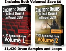 Cinematic Ultra Mega Drum Loops Bundle Chillout and Ambient Ableton Logic WAV